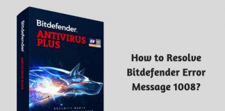 How to Resolve Bitdefender Error Message 1008