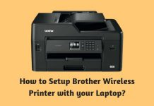 How to Setup Brother Wireless Printer with your Laptop