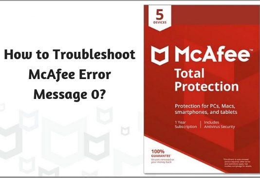 How to Troubleshoot McAfee Error Message 0