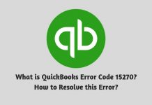 What is QuickBooks Error Code 15270 - How to Resolve this Error